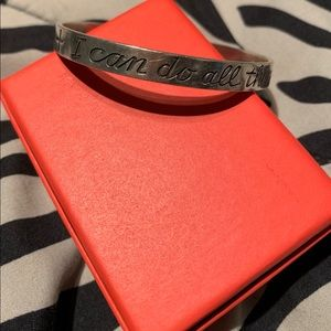 James Avery I Can Do All Things Bangle
